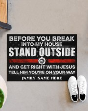 """Firefighter Before you break into my house 0604 Doormat 34"""" x 23"""" aos-doormat-34-x-23-lifestyle-front-07"""