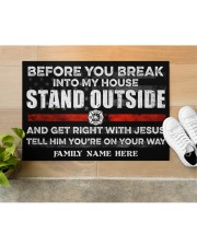 """Firefighter Before you break into my house 0604 Doormat 34"""" x 23"""" aos-doormat-34-x-23-lifestyle-front-12"""