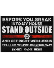 """Firefighter Before you break into my house 0604 Doormat 34"""" x 23"""" front"""