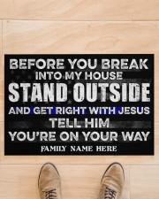 "Police Before you break into my house Skp3 Doormat 34"" x 23"" aos-doormat-34-x-23-lifestyle-front-02"