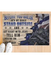 """Police Stand outside  Doormat 34"""" x 23"""" aos-doormat-34-x-23-lifestyle-front-03"""