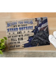 """Police Stand outside  Doormat 34"""" x 23"""" aos-doormat-34-x-23-lifestyle-front-11"""