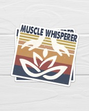 Massage048 Muscle Whisperer Sticker - 2 pack (Vertical) aos-sticker-2-pack-vertical-lifestyle-front-01