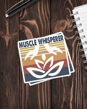 Massage048 Muscle Whisperer Sticker - 2 pack (Vertical) aos-sticker-2-pack-vertical-lifestyle-front-05