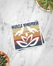 Massage048 Muscle Whisperer Sticker - 2 pack (Vertical) aos-sticker-2-pack-vertical-lifestyle-front-06