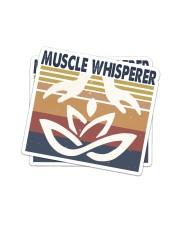 Massage048 Muscle Whisperer Sticker - 2 pack (Vertical) front