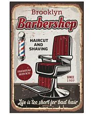 Barber Life is too short for bad hair 24x36 Poster front