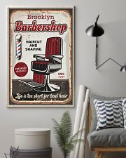 Barber Life is too short for bad hair 24x36 Poster lifestyle-poster-1