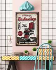 Barber Life is too short for bad hair 24x36 Poster lifestyle-poster-6