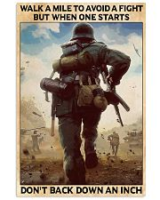 Veteran Don't back down an inch  24x36 Poster front