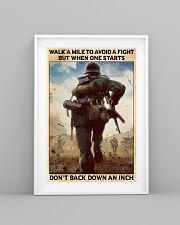Veteran Don't back down an inch  24x36 Poster lifestyle-poster-5