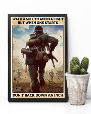 Veteran Don't back down an inch  24x36 Poster lifestyle-poster-8