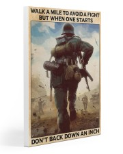 Veteran Don't back down an inch  20x30 Gallery Wrapped Canvas Prints thumbnail