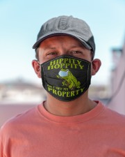 Get off my property Cloth face mask aos-face-mask-lifestyle-06