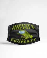 Get off my property Cloth face mask aos-face-mask-lifestyle-22