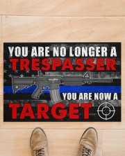 """Police You are now a target  Doormat 34"""" x 23"""" aos-doormat-34-x-23-lifestyle-front-02"""