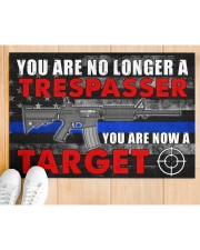 """Police You are now a target  Doormat 34"""" x 23"""" aos-doormat-34-x-23-lifestyle-front-03"""