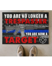 """Police You are now a target  Doormat 34"""" x 23"""" aos-doormat-34-x-23-lifestyle-front-04"""