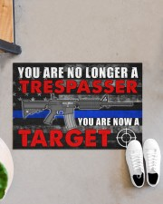"""Police You are now a target  Doormat 34"""" x 23"""" aos-doormat-34-x-23-lifestyle-front-07"""