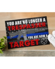 """Police You are now a target  Doormat 34"""" x 23"""" aos-doormat-34-x-23-lifestyle-front-11"""