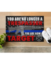 """Police You are now a target  Doormat 34"""" x 23"""" aos-doormat-34-x-23-lifestyle-front-12"""