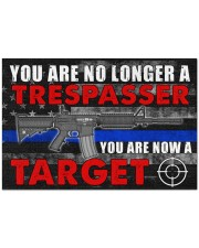 """Police You are now a target  Doormat 34"""" x 23"""" front"""