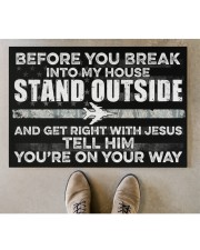 """AF Stand outside  Doormat 34"""" x 23"""" aos-doormat-34-x-23-lifestyle-front-04"""