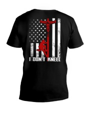 Linemans Don't Kneel V-Neck T-Shirt tile