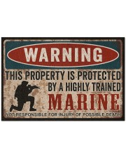 "MR This property is protected  Doormat 34"" x 23"" front"