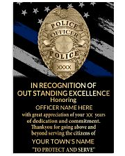 Police In recognition of outstanding Vertical Poster tile