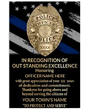Police In recognition of outstanding 24x36 Poster front