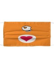 Teacher Care299 Orange Cloth face mask thumbnail