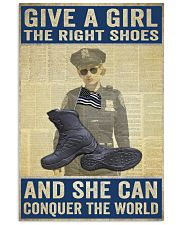 Police give a girl the right shoes Vertical Poster tile