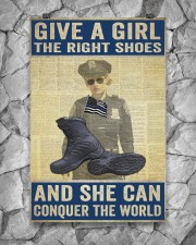 Police give a girl the right shoes 24x36 Poster aos-poster-portrait-24x36-lifestyle-13