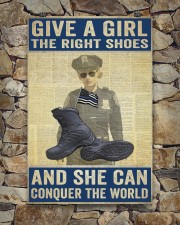 Police give a girl the right shoes 24x36 Poster aos-poster-portrait-24x36-lifestyle-16