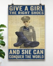 Police give a girl the right shoes 24x36 Poster aos-poster-portrait-24x36-lifestyle-19