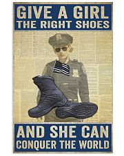 Police give a girl the right shoes 24x36 Poster front