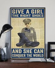 Police give a girl the right shoes 24x36 Poster lifestyle-poster-2