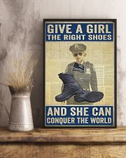 Police give a girl the right shoes 24x36 Poster lifestyle-poster-3