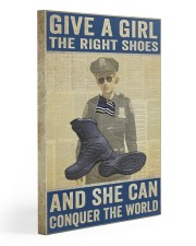 Police give a girl the right shoes 20x30 Gallery Wrapped Canvas Prints thumbnail