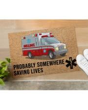 "EMT Paramedic Probably somewhere saving lives Doormat 34"" x 23"" aos-doormat-34-x-23-lifestyle-front-11"