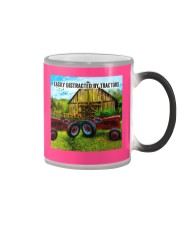 Farmer Easily distracted by tractors Color Changing Mug tile
