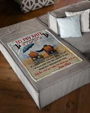"Lineman To my wife Small Fleece Blanket - 30"" x 40"" aos-coral-fleece-blanket-30x40-lifestyle-front-03"