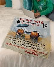 "Lineman To my wife Small Fleece Blanket - 30"" x 40"" aos-coral-fleece-blanket-30x40-lifestyle-front-07"