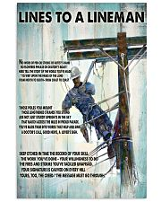 Lineman Lines To A Lineman 24x36 Poster front