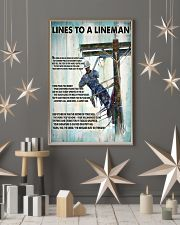 Lineman Lines To A Lineman 24x36 Poster lifestyle-holiday-poster-1