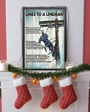 Lineman Lines To A Lineman 24x36 Poster lifestyle-holiday-poster-4