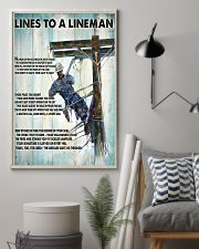 Lineman Lines To A Lineman 24x36 Poster lifestyle-poster-1