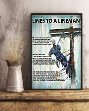 Lineman Lines To A Lineman 24x36 Poster lifestyle-poster-3