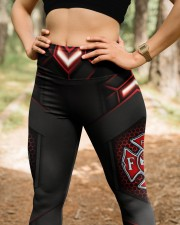 Firefighter Fire Dept High Waist Leggings aos-high-waist-leggings-lifestyle-22